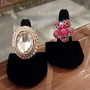 Red & Gold Bling Ring Bundle